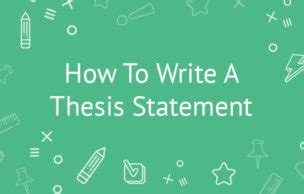 How to Write a Thesis Statement with examples - Word